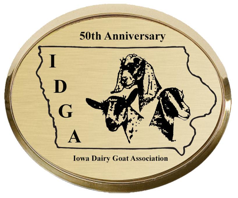 Iowa Dairy Goat Association 50th Anniversary logo