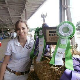 IDGA Member displaying 4-H & FFA Iowa State Fair awards
